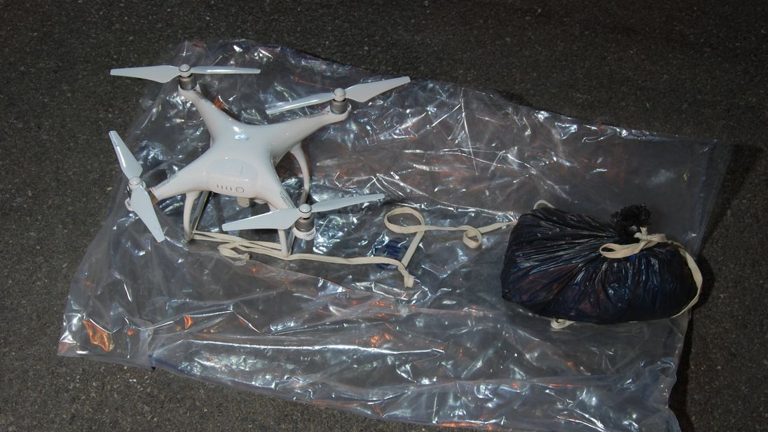 Police investigating the case found this drone