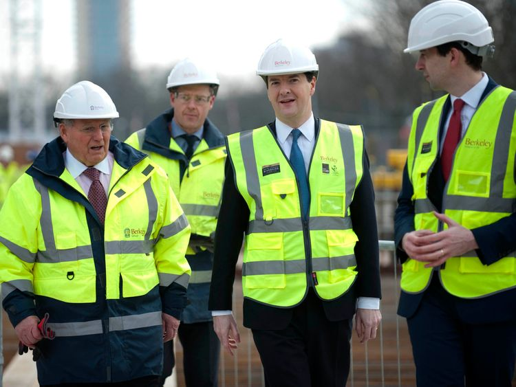 Berkeley Group chairman Tony Pidgley (l) with then-Chancellor George Osborne in March 2013