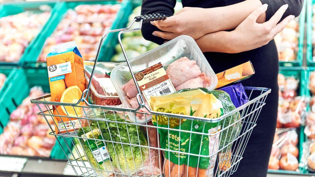 A Morrisons shopping basket