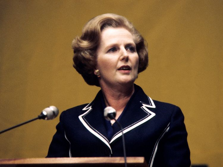 Margaret Thatcher pictured in 1979