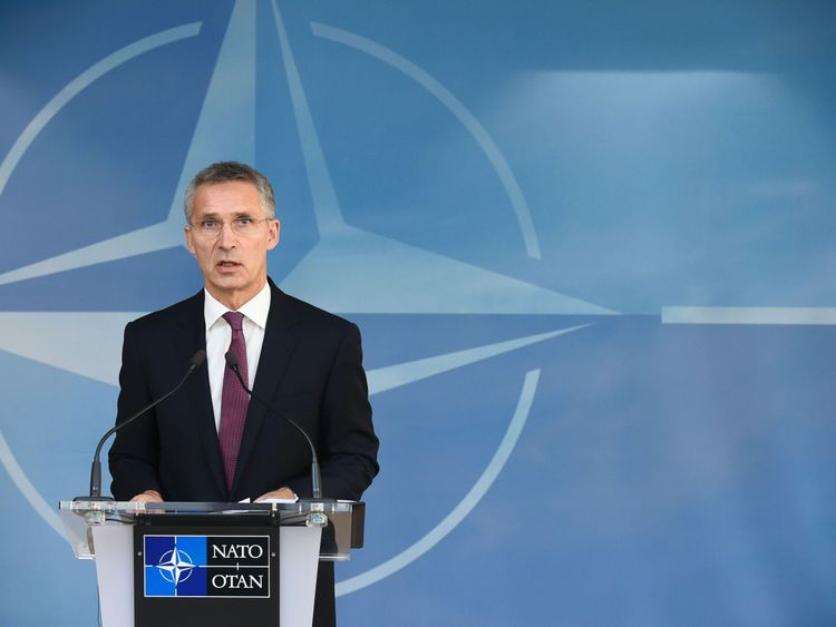 Mr Stoltenberg  says the west is facing its greatest security challenge in a generation