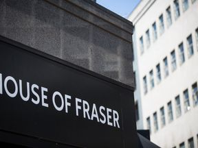 A general view of House of Fraser on Oxford Street on June 9, 2016 in London, England.