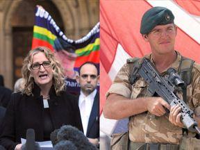 Claire Blackman and her husband ex-Royal Marine Alexander Blackman