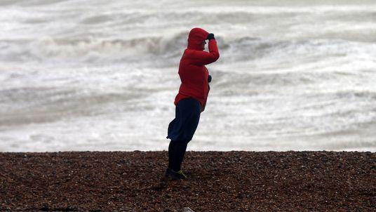 A windy day in Brighton