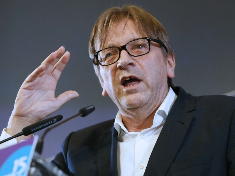Guy Verhofstadt  says