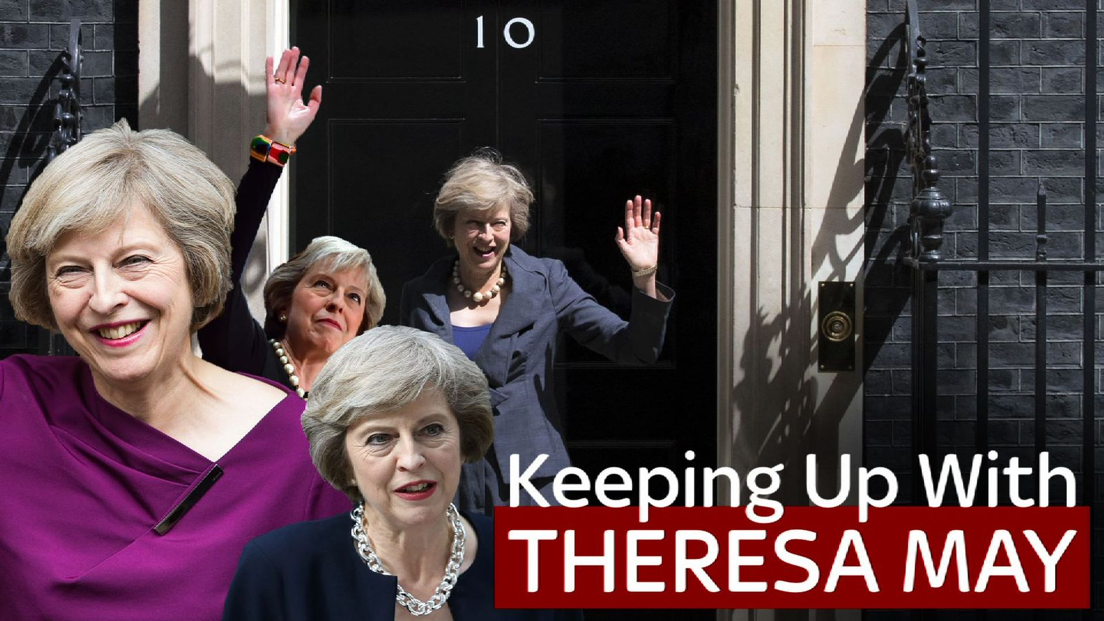 Theresa May outside 10 Downing Street