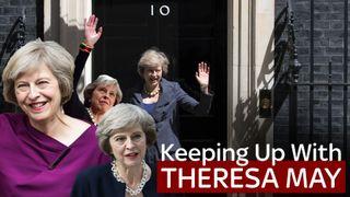 Theresa May outside 10 Downing Street