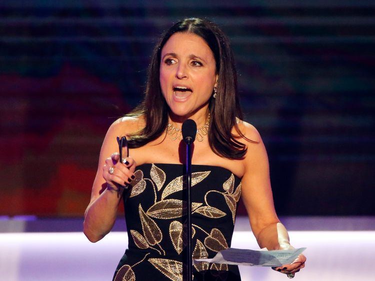 Julia Louis-Dreyfus accepts her award for the Best Actress in a Comedy Series for VEEP during the 23rd Screen Actors Guild Awards in Los Angeles, California, U.S., January 29, 2017