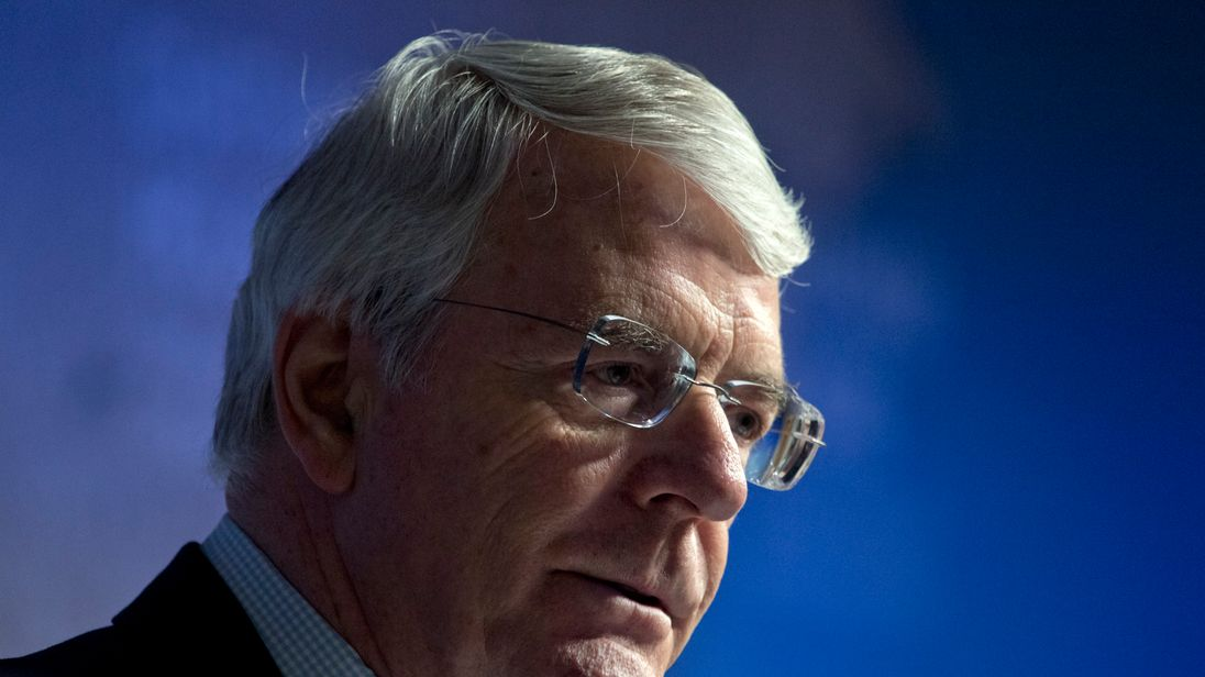Former Prime Minister John Major speaks about Britain and Europe's future