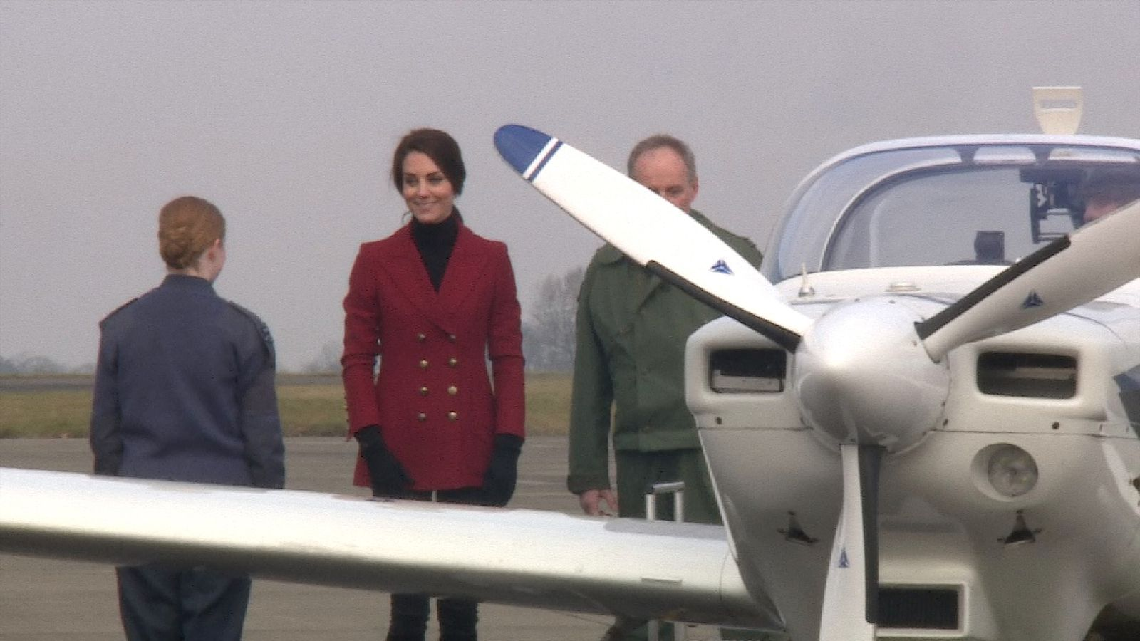 Duchess of Cambridge visits RAF Air Cadets