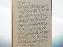 Chloe Bridgewater's letter to Google. Pic: Andy Bridgewater
