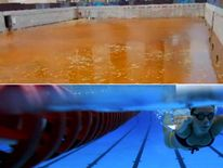 The warm up pool in Rio. Pic: O Globo/Getty Images