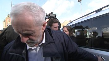 "Jeremy Corbyn says ""someone just tried to kick me""."