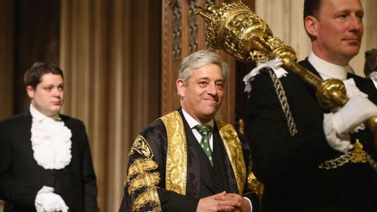File photo dated 4/6/2014 of Commons Speaker John Bercow who has outlined his opposition to Donald Trump addressing both Houses of Parliament during his forthcoming state visit.