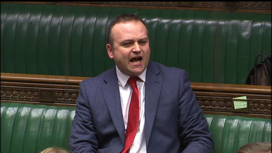 Neil Coyle shouts at Tim Farron during a House of Commons debate