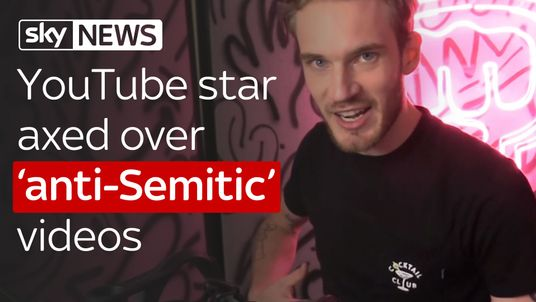 YouTube star axed over anti-Semitic videos