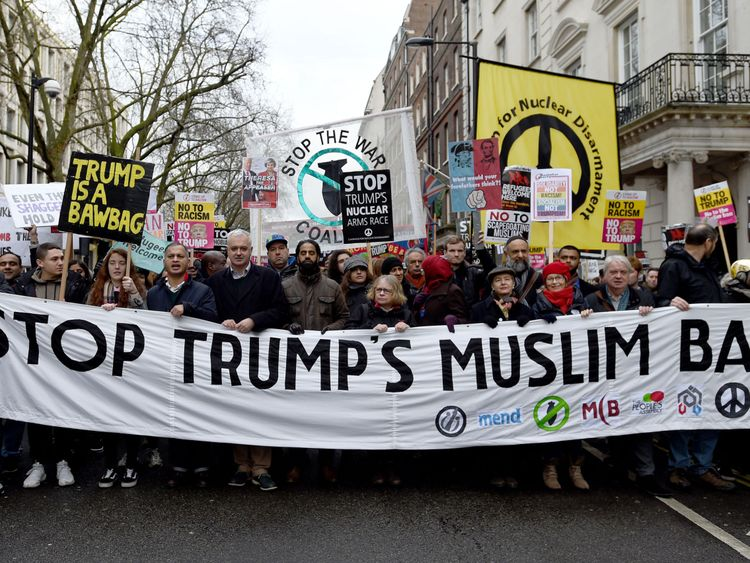 People took to the streets of London to protest against the ban