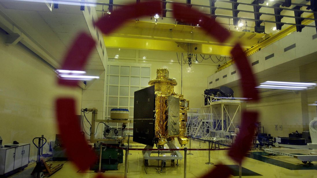 The Satellite Chandrayaan-1 spacecraft