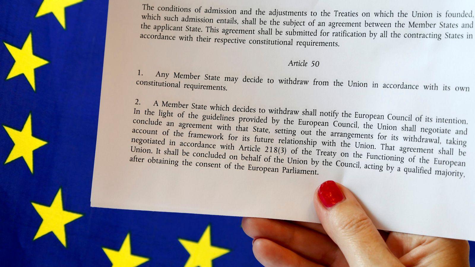 Article 50 of the EU's Lisbon Treaty