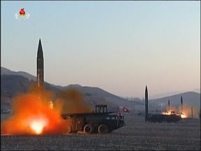 North Korea launches four missiles