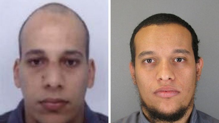 Cherif Kouachi (L), aged 32, and his brother Said Kouachi (R), aged 34