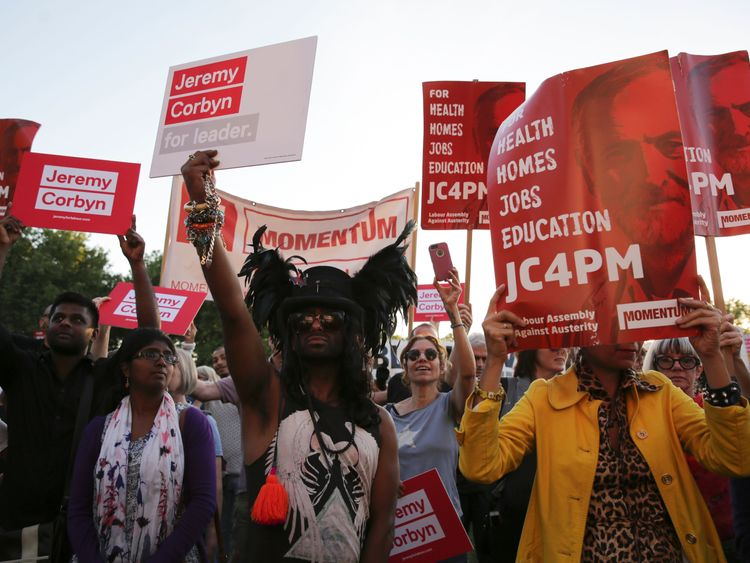 Momentum supporters