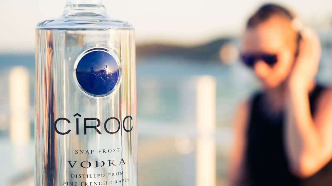 Ciroc vodka is produced in Scotland