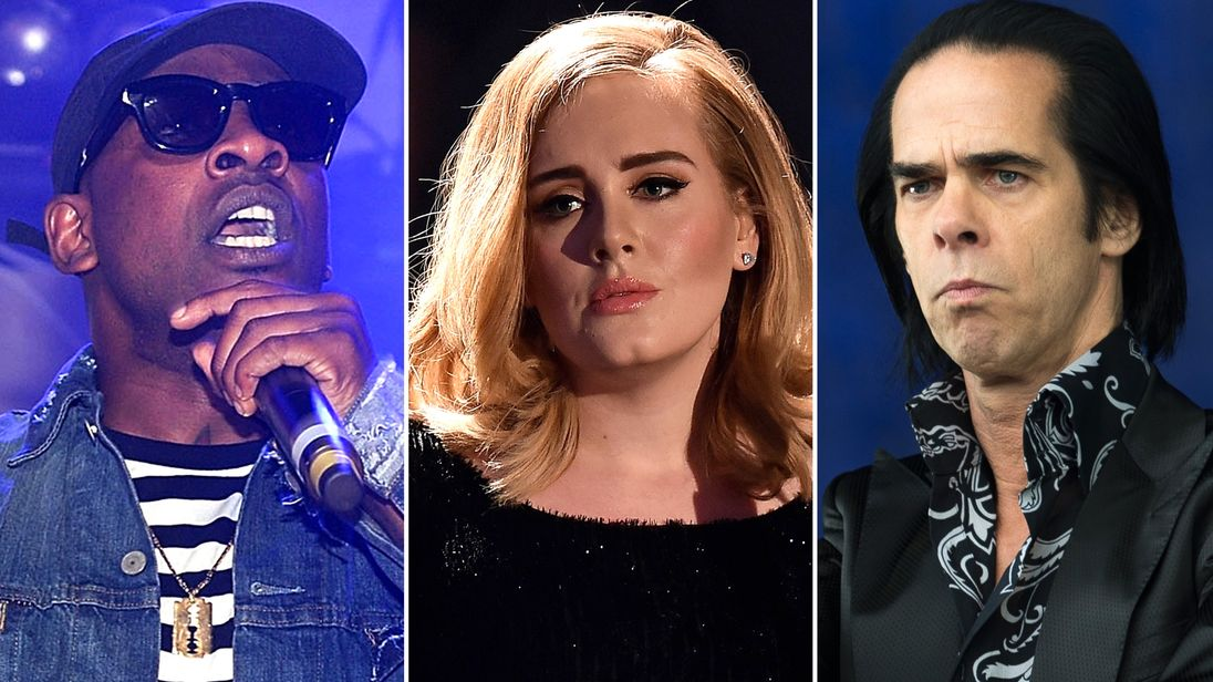 Skepta, Adele and Nick Cave