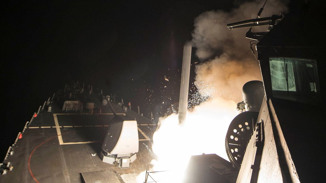 US missile strike
