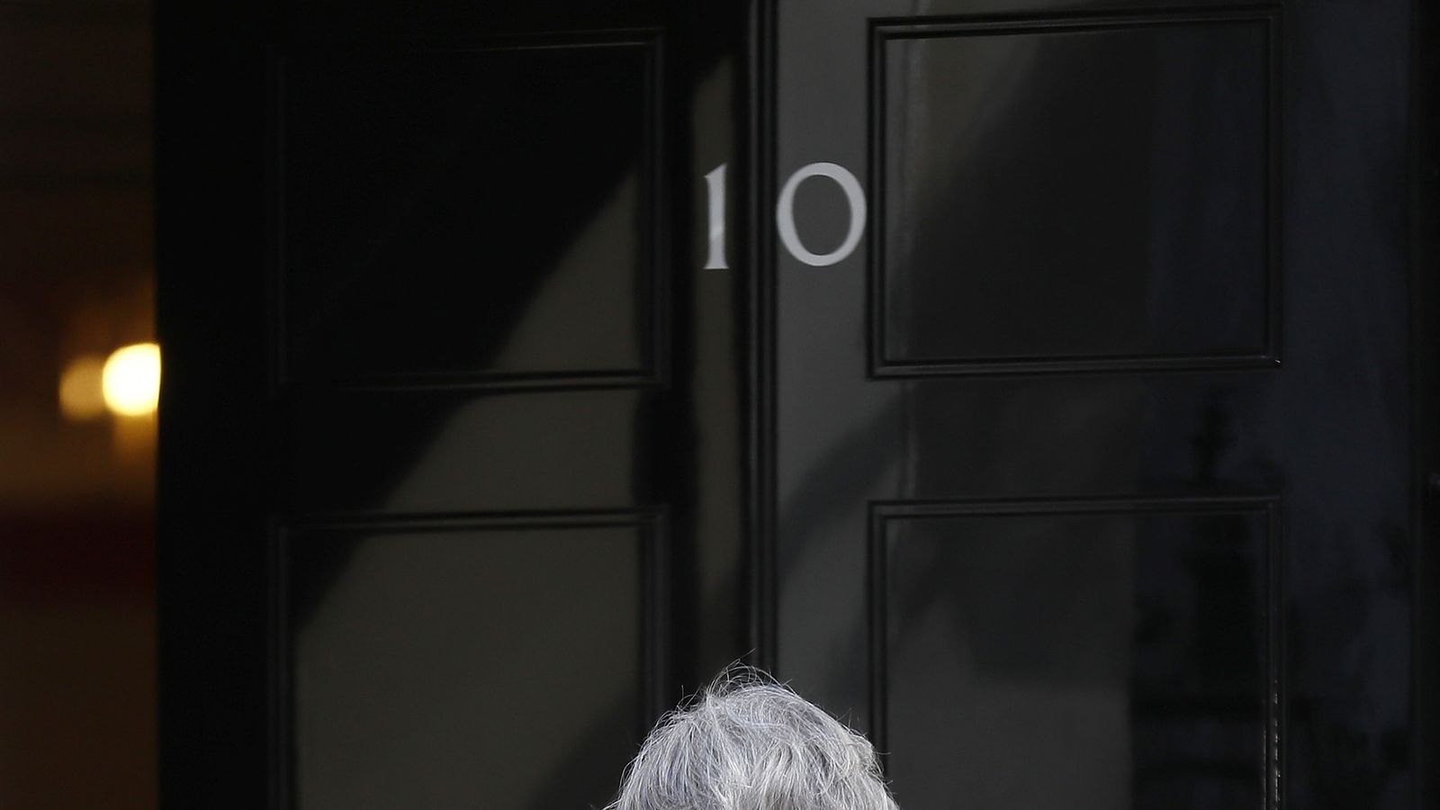 Theresa May returns to 10 Downing Street after calling for a snap General Election