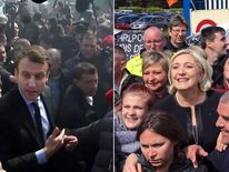Emmanuel Macron (L) and Marine Le Pen