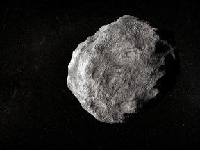 Artist's impression of asteroid