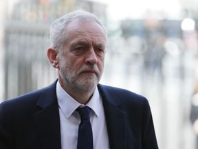 Jeremy Corbyn arrives to join the congregation for the service