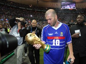 Zidane won the World Cup with France in 1998