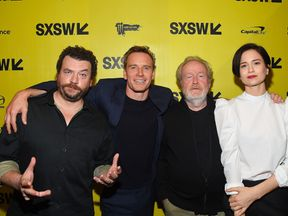Ridley Scott with some of the cast members of Alien: Covenant at the SXSW Conference in Austin, Texas