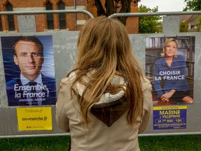 Marine Le Pen could be gaining on Emmanuel Macron, say pollsters