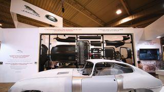 Jaguar E Type along with its spare panels