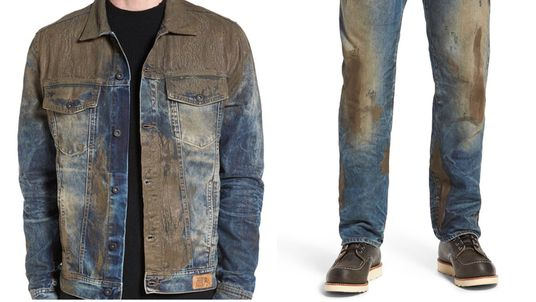 Muddy jacket and jeans. Pic: Nordstrom