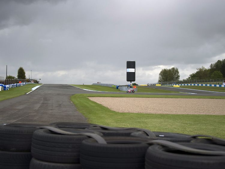 The crash happened at Donington Park. File picture