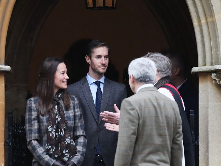 Pippa Middleton and James Matthews attended church together on Christmas Day last year