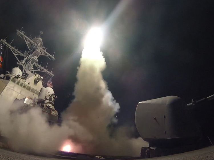 The US has launched a missile attack on a Syrian airbase