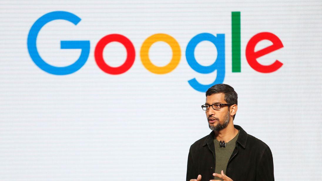 Google CEO Sundar Pichai speaks during the presentation of new Google hardware in San Francisco, California, U.S. October 4, 2016