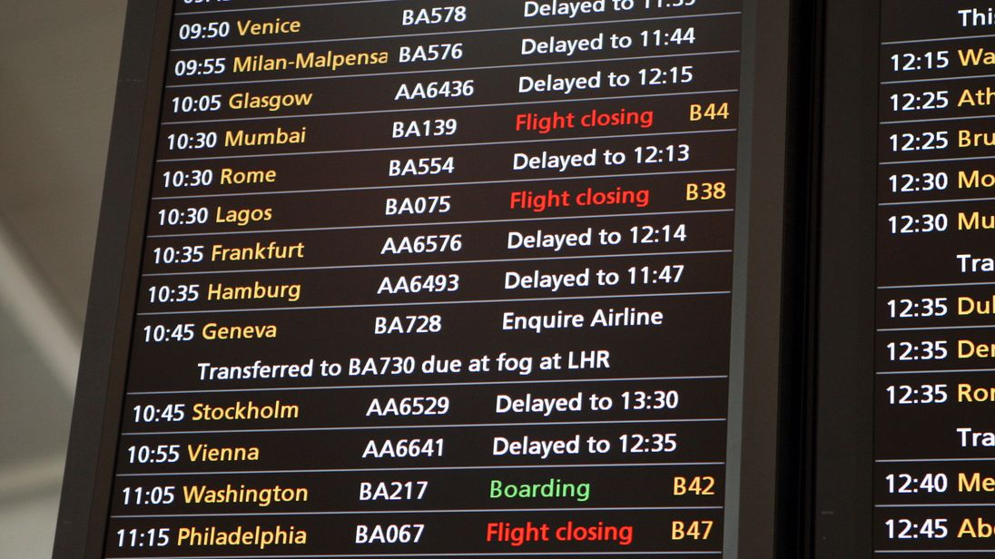 More than 850,000 flights into UK airports were examined by Which. File pic