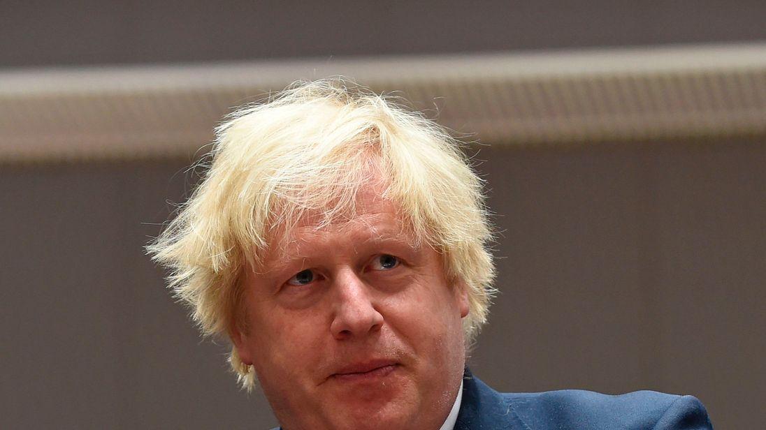 Boris Johnson attended an EU summit in Brussels