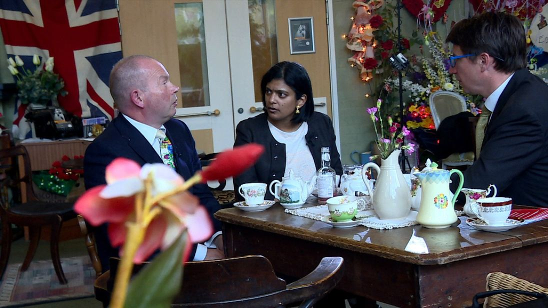 Rupa Huq and Peter Ward