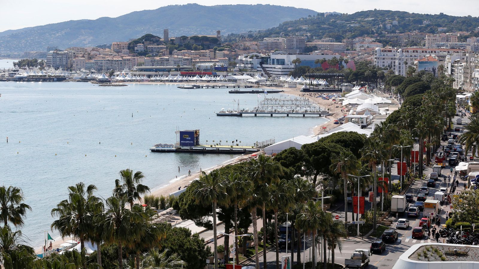 A general view shows the Croisette