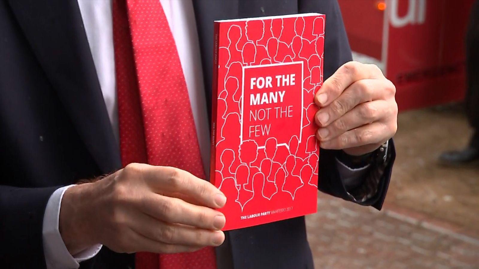 Jeremy Corbyn has launches Labour's election manifesto