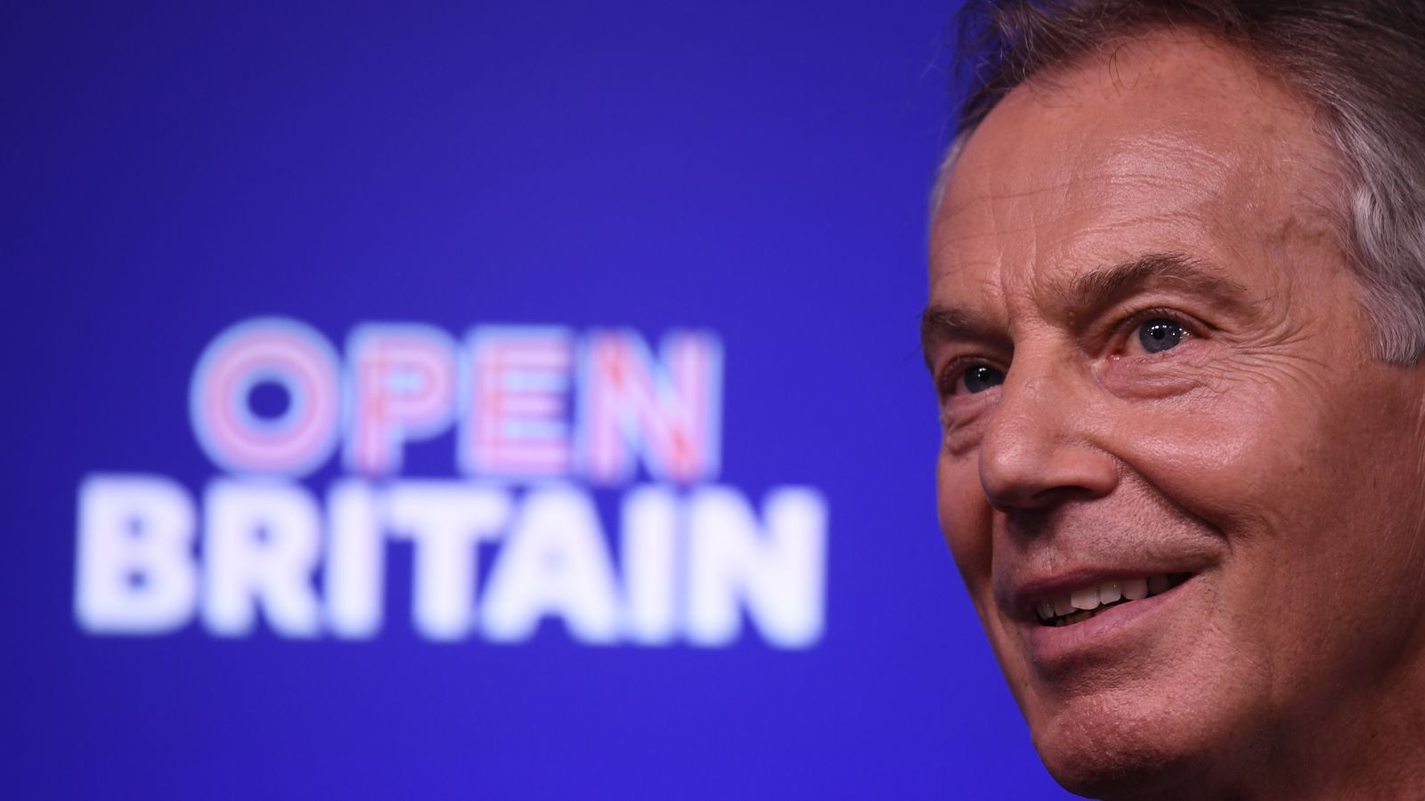Tony Blair pictured at a pro-EU event in February