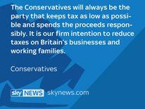 Conservative manifesto