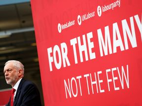 Jeremy Corbyn launches the Labour party's election manifesto at Bradford University